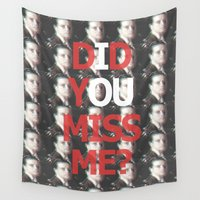 moriarty Wall Tapestries featuring Did You Miss Me? / IOU / Moriarty / VII by Earl of Grey
