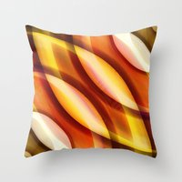 orange pattern Throw Pillows featuring Pattern orange by Christine baessler