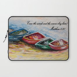 Even the Winds and Waves Laptop Sleeve