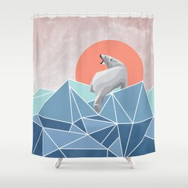 Polar Bear live in North Pole Shower Curtain