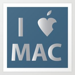 I heart Mac Art Print