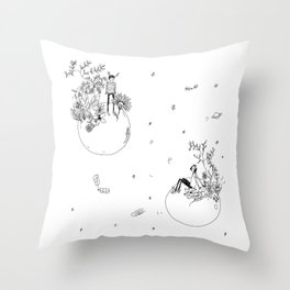 space discussion  Throw Pillow