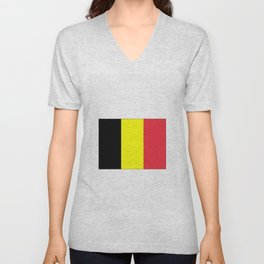 Flag of belgium-belgian,belge,belgique,bruxelles,Tintin,Simenon,Europe,Charleroi,Anvers,Maeterlinck Unisex V-Neck