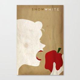 Snow White Minimalist Fairytales Canvas Print