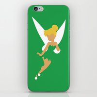 tinker bell iPhone & iPod Skins featuring Tinker Bell by Adrian Mentus
