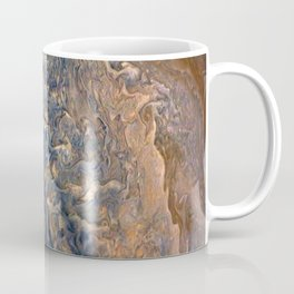 Swirling Clouds of Planet Jupiter Close Up from Juno Cam Coffee Mug