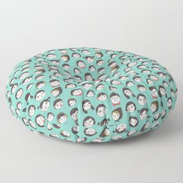 Pattern Project / Faces Floor Pillow