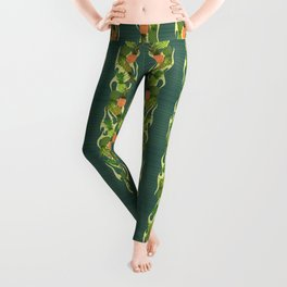 Hula Pineapple Wreath Leggings