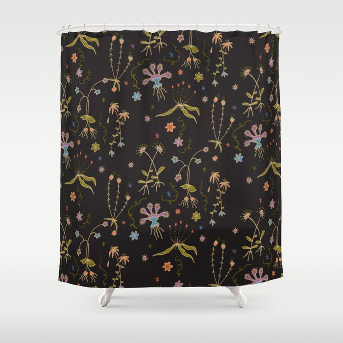 Flora Of Planet Hinterland Shower Curtain