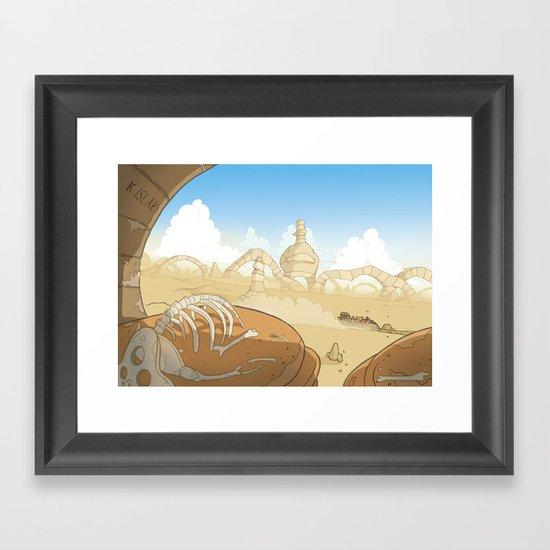 On the Road 1: Landscape stuff Framed Art Print