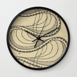 River Formation Diagram Wall Clock
