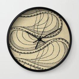 River Formation Diagram Wall Clock