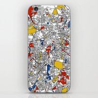 berlin iPhone & iPod Skins featuring Berlin  by Mondrian Maps