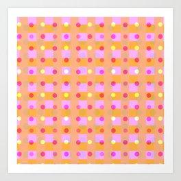 Circles and Squares Parade Art Print