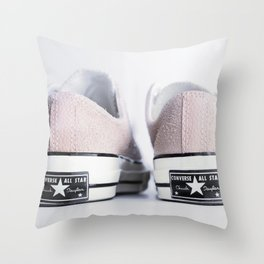 My pink suede shoes Throw Pillow