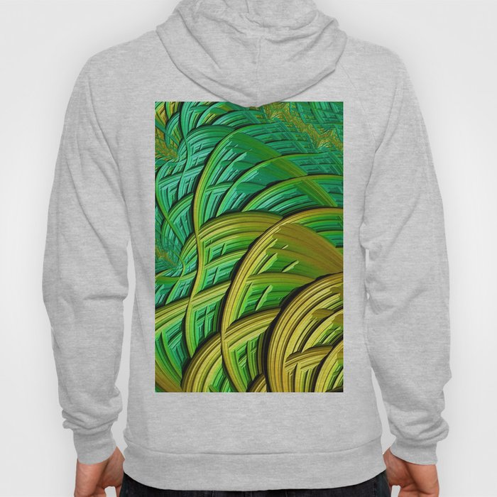 patterns green yellow string Hoody