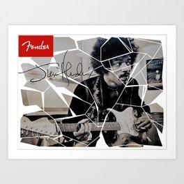 Jimi Hendrix stratocaster Art Print
