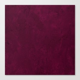 Hand painted modern abstract burgundy marble watercolor Canvas Print