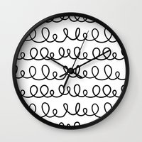 doodle Wall Clocks featuring Doodle by 83 Oranges™