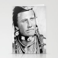 native american Stationery Cards featuring Native American by chomaee
