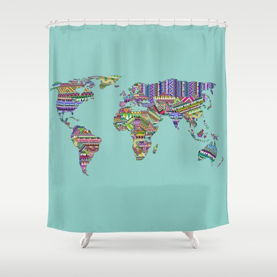 Overdose World Shower Curtain
