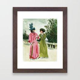 Fancy Ladies Framed Art Print