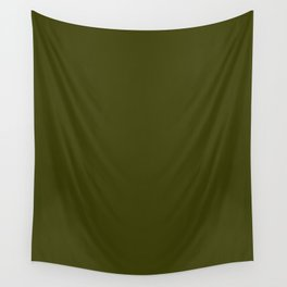 Dark olive Wall Tapestry