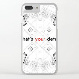 Detailed architectural node_1 Clear iPhone Case