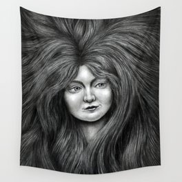 untitled - charcoal drawing Wall Tapestry