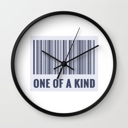 One of a kind - barcode quote Wall Clock