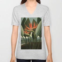 Birds of Paradise : Temple of Flora Unisex V-Neck
