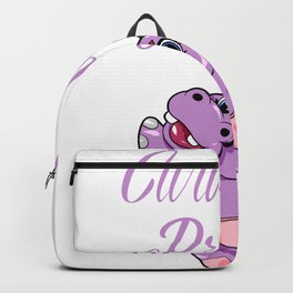 Curvy Proud Full figured Hippo hippopotamus gift Backpack
