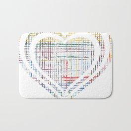 The System - heart Bath Mat
