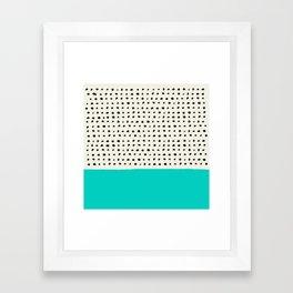 Aqua x Dots Framed Art Print