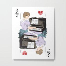 Pianist poker Metal Print
