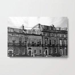 Edinburgh, Scotland Quaint City Homes Metal Print