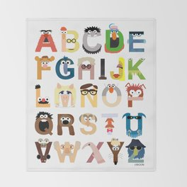 Muppet Alphabet Throw Blanket