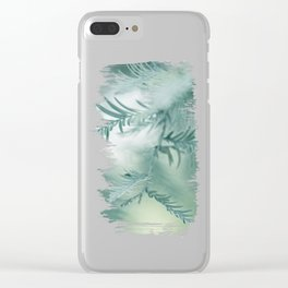 feathery leaves Clear iPhone Case
