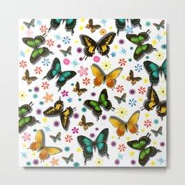Flying Butterflies Metal Print