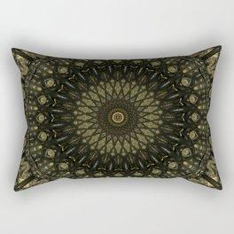 Detailed mandala in light and dark brown tones Rectangular Pillow