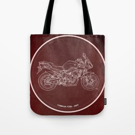 Yamaha FZ6b 2007 art print and motorcycle quote, gift for men Tote Bag