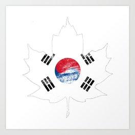 Korea/Canada Art Print