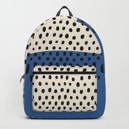 Minimalist Classic Blue & White Line Art, Simple Minimal Print, Pantone Classic Blue, Living Room Wa Backpack