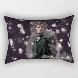 North and South - Mr Thornton - Richard Armitage - Look back at me-3 Rectangular Pillow