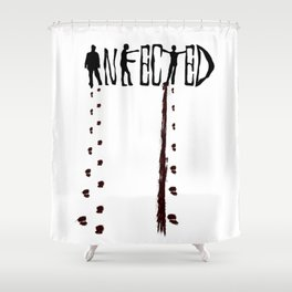 Infected Zombie Shower Curtain