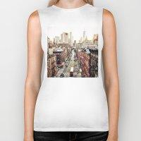 new york city Biker Tanks featuring New York City by Orbon Alija