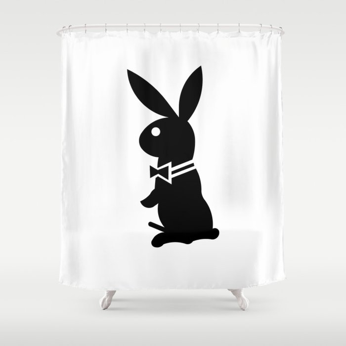 Playboy Horny Rabbit Shower Curtain