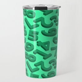 Green number in 3D Travel Mug