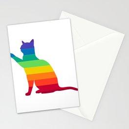 LGBT Rainbow Gay Pride Cat Stationery Cards