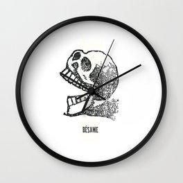 Besame Calavera Sugar Skull Wall Clock